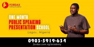 2020 LAGOS PUBLIC SPEAKING TRAINING ACADEMY