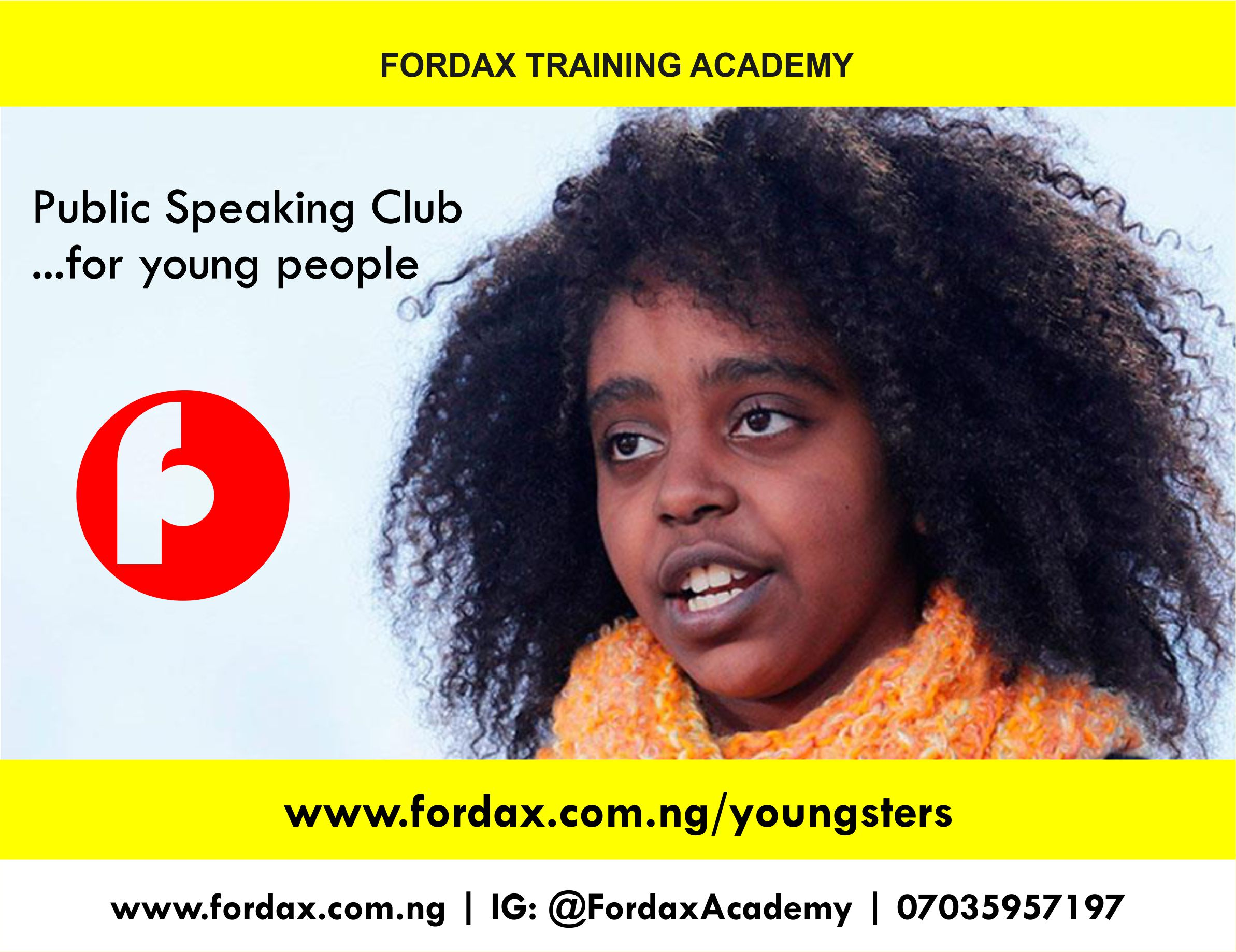 Youngster flyers Abuja public speaking for kids In FCT