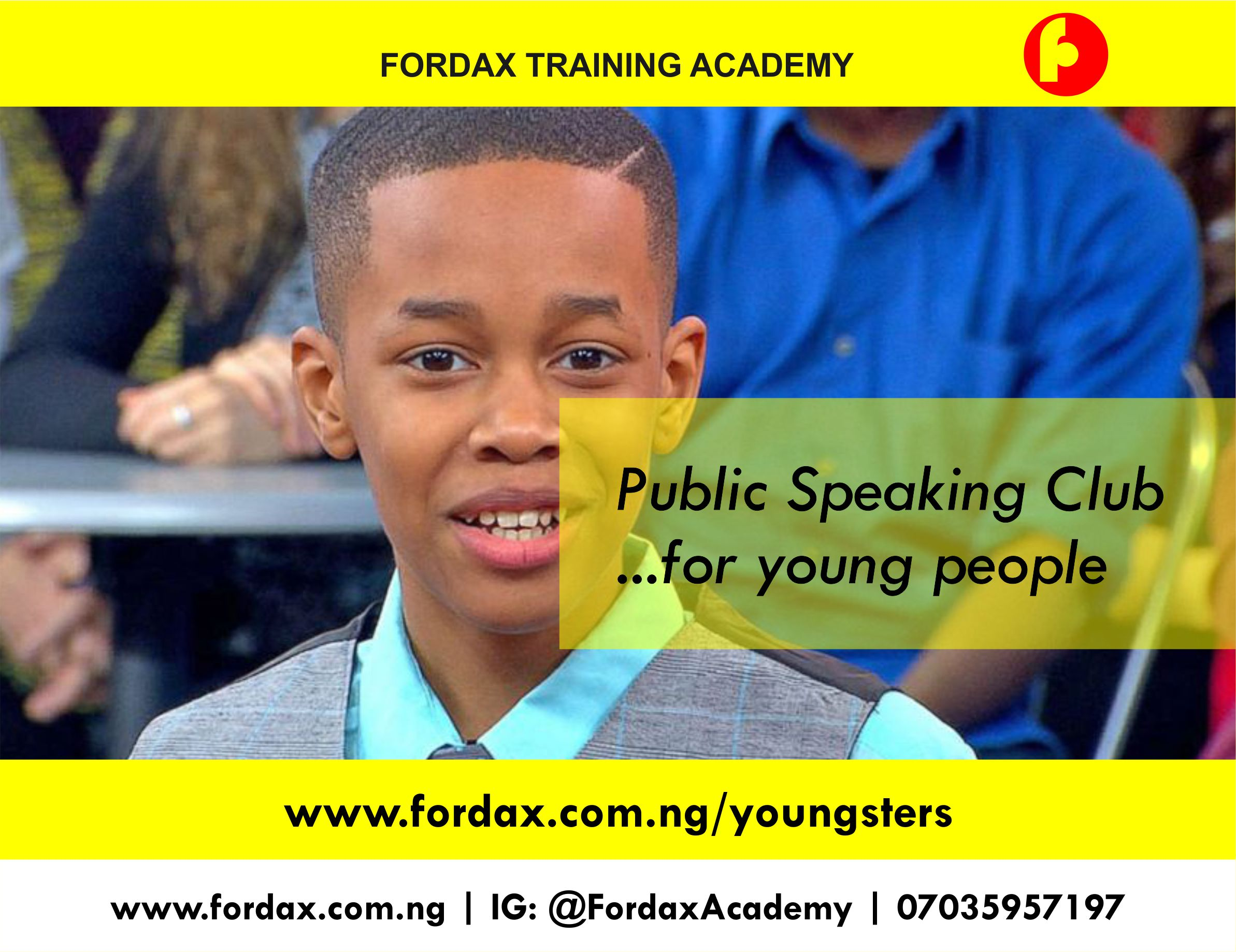 Youngster flyers Abuja public speaking for kids for young adults
